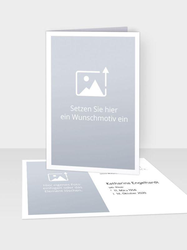 Erinnerungsbild - Kleinere Klappkarte mit Trauerbild/Sterbebildchen (74 x 105 mm)   Freies Design   EB_029